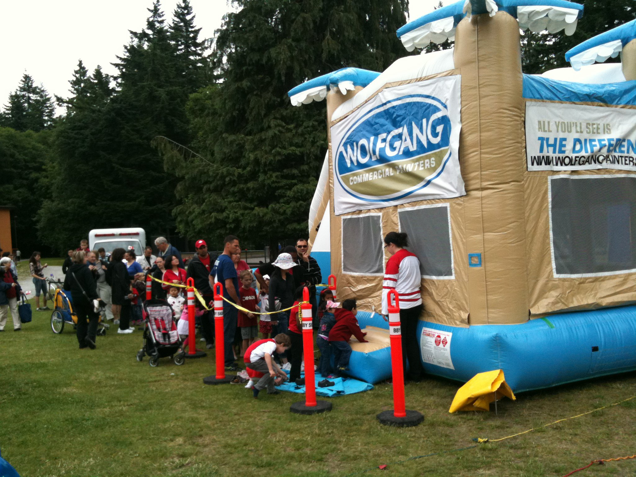 Bouncy castle at Canada Day in Ron McLean Park