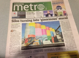 On the cover of the Metro