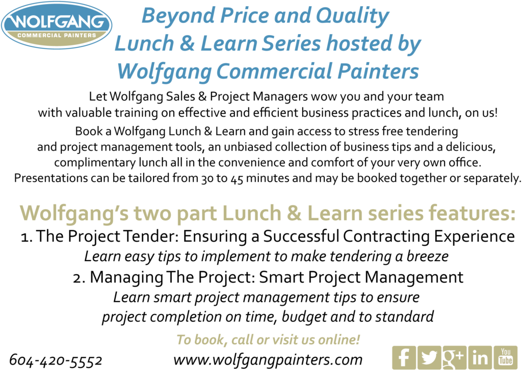 Wolfgang Commercial Painters Lunch & Learn
